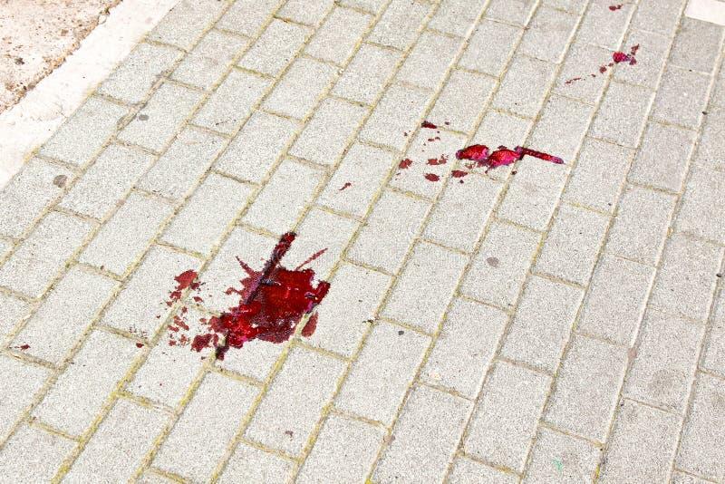 αιματηρό ίχνος στοκ εικόνα