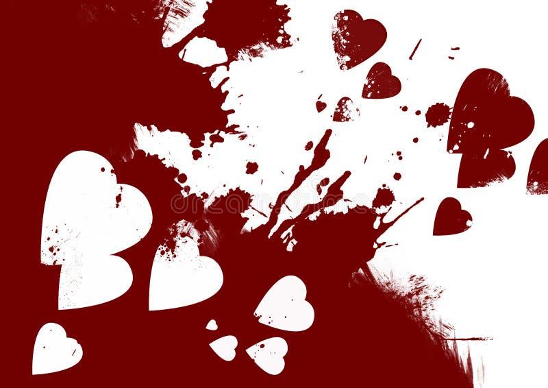 Αιματηρό αφηρημένο υπόβαθρο καρδιών ελεύθερη απεικόνιση δικαιώματος