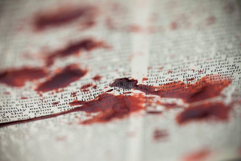 Αιματηρό κείμενο βιβλίων στοκ εικόνες