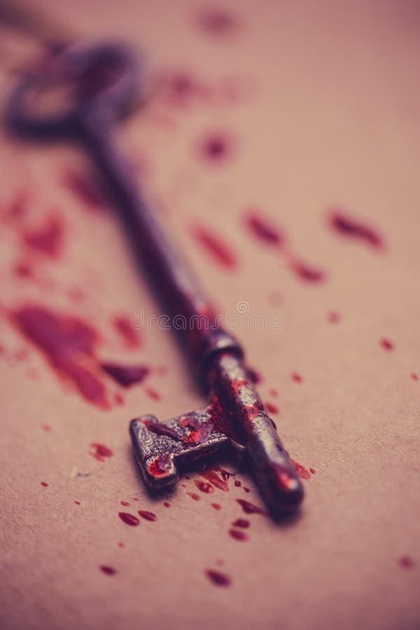 Αιματηρό κλειδί σκελετών στοκ φωτογραφίες με δικαίωμα ελεύθερης χρήσης