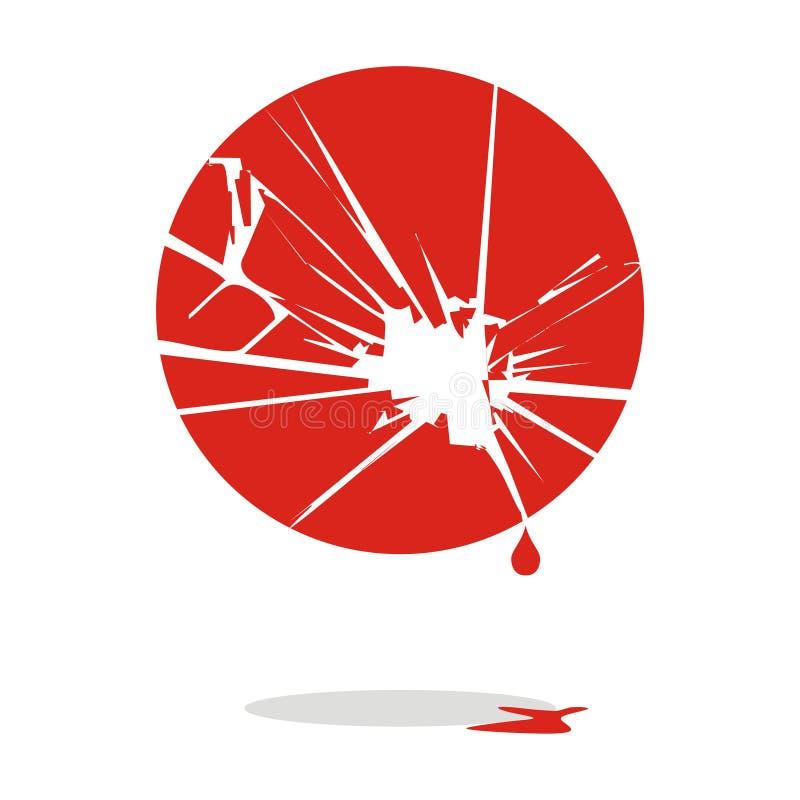 αιμορραγεί την Ιαπωνία διανυσματική απεικόνιση