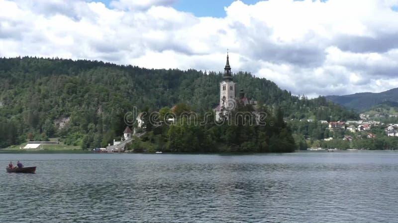 Αιμορραγημένη λίμνη στη Σλοβενία 133533 απόθεμα βίντεο