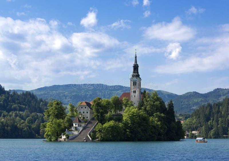Αιμορραγημένο κάστρο, Σλοβενία στοκ φωτογραφία με δικαίωμα ελεύθερης χρήσης