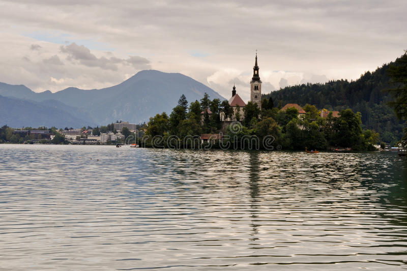 Αιμορραγημένο νησί λιμνών, Σλοβενία στοκ φωτογραφία