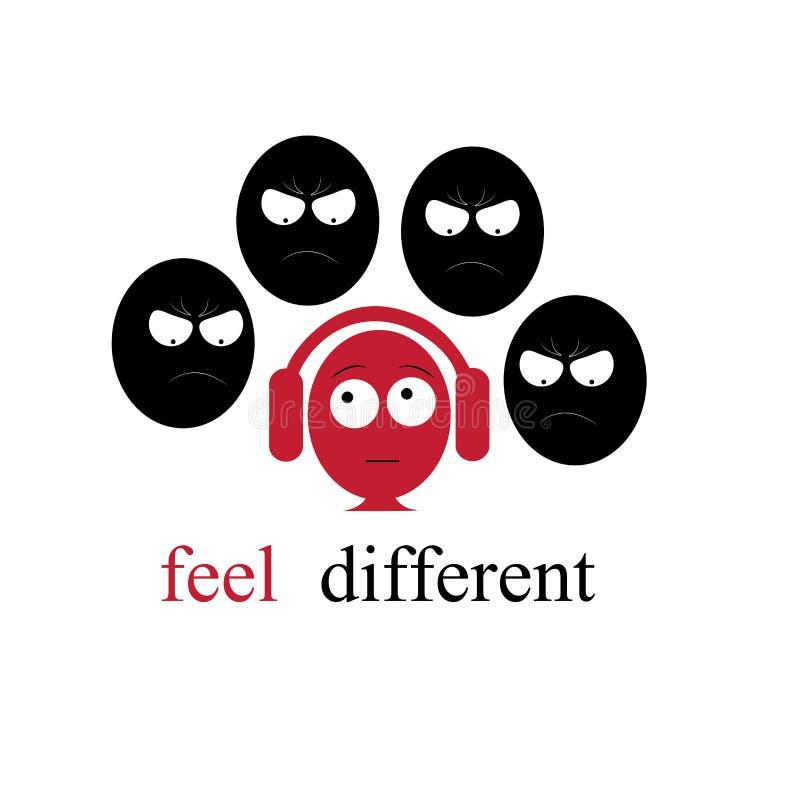 Αισθανθείτε διαφορετικός διανυσματική απεικόνιση