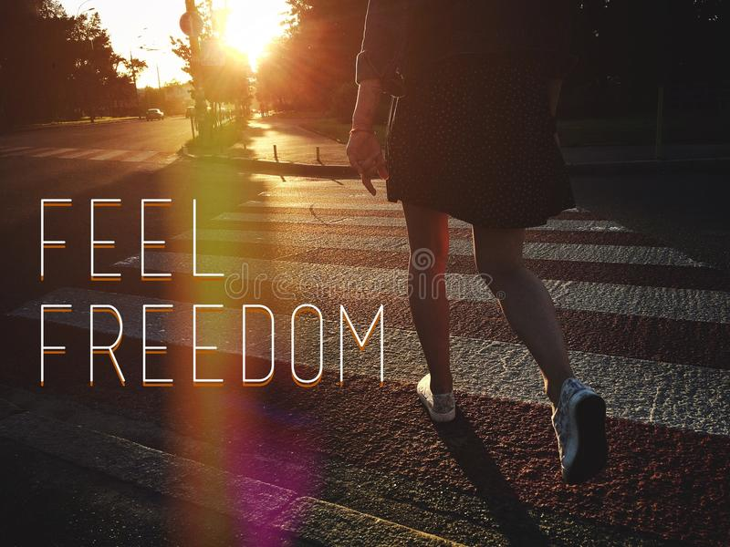 Αισθανθείτε την ελευθερία στοκ φωτογραφίες με δικαίωμα ελεύθερης χρήσης