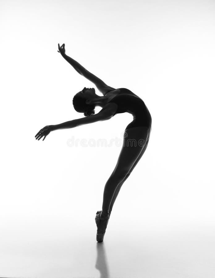 Αισθησιακό ballerina στη σκιά στοκ εικόνα