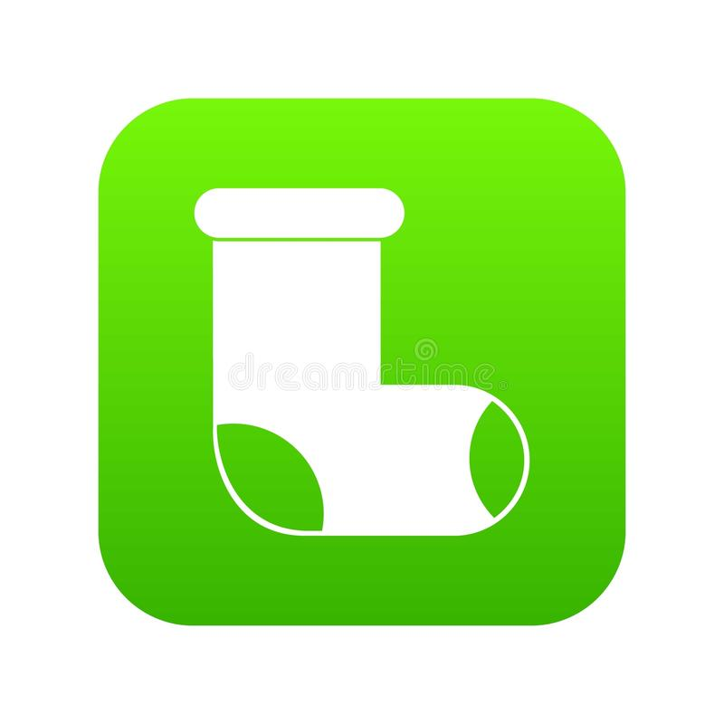 Αισθητός ψηφιακός πράσινος εικονιδίων μποτών ελεύθερη απεικόνιση δικαιώματος