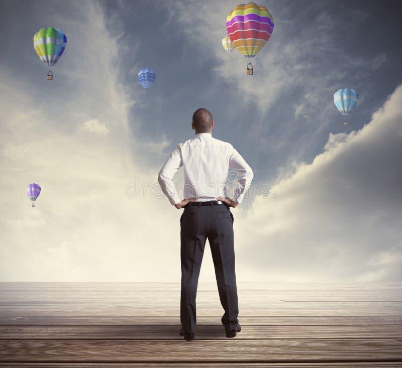 Αισιόδοξος επιχειρηματίας στοκ εικόνες με δικαίωμα ελεύθερης χρήσης