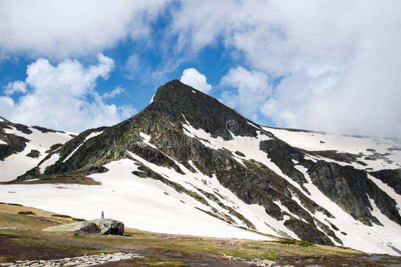Αιχμή βουνών Rila στη Βουλγαρία, Ευρώπη στοκ φωτογραφίες
