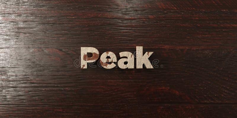 Αιχμή - βρώμικος ξύλινος τίτλος στο σφένδαμνο - τρισδιάστατο δικαίωμα ελεύθερη εικόνα αποθεμάτων απεικόνιση αποθεμάτων