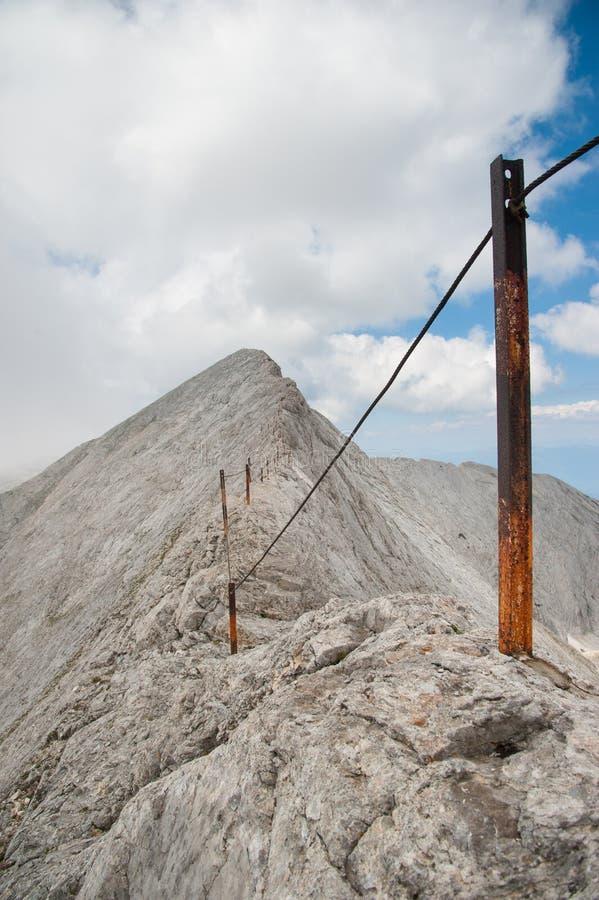 Αιχμή Koncheto στο βουνό Pirin στοκ φωτογραφία