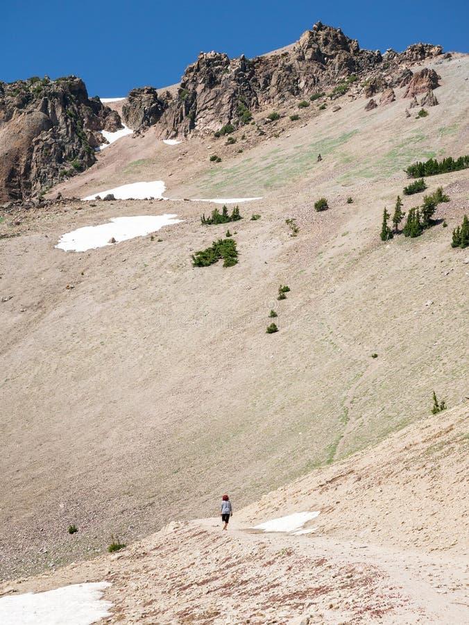 Αιχμή Lassen, ηφαιστειακό εθνικό πάρκο Lassen στοκ φωτογραφίες
