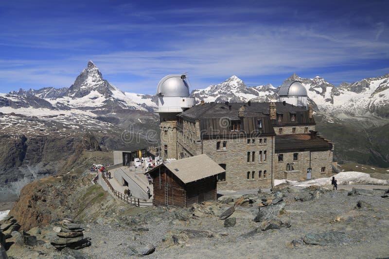 Αιχμή Matterhorn από το βουνό Gornergrat, Ελβετία στοκ φωτογραφία με δικαίωμα ελεύθερης χρήσης