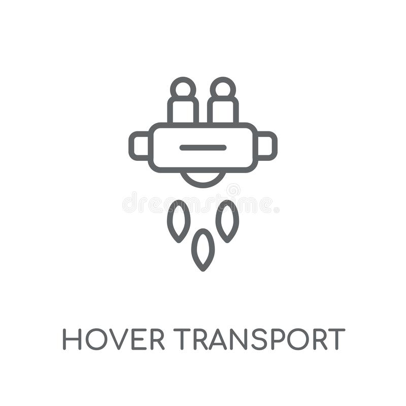 Αιωρηθείτε το γραμμικό εικονίδιο μεταφορών Η σύγχρονη περίληψη αιωρείται το λογότυπο μεταφορών διανυσματική απεικόνιση