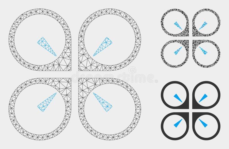 Αιωρηθείτε το διανυσματικά 2$α πρότυπο πλέγματος κηφήνων και το εικονίδιο μωσαϊκών τριγώνων ελεύθερη απεικόνιση δικαιώματος