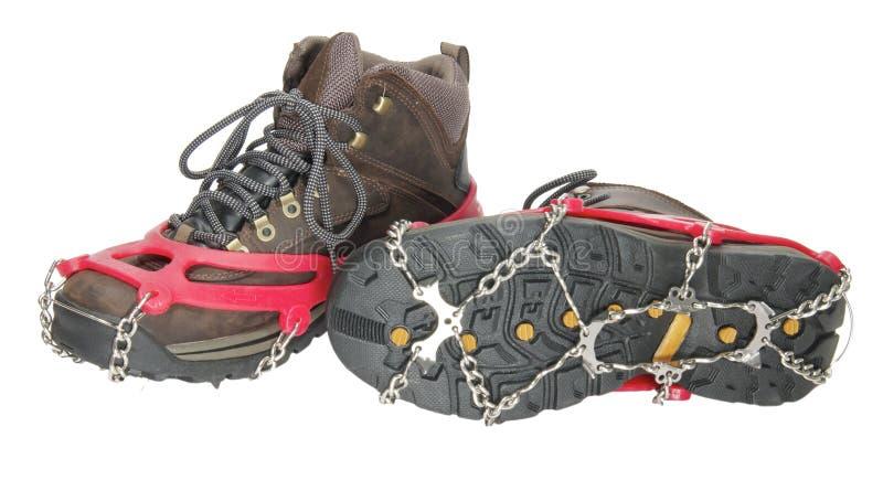 ακίδες παπουτσιών πάγου &m στοκ εικόνες