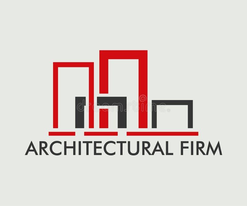 Ακίνητη περιουσία, διανυσματικό σχέδιο λογότυπων κτηρίου, οικοδόμησης και αρχιτεκτονικής ελεύθερη απεικόνιση δικαιώματος