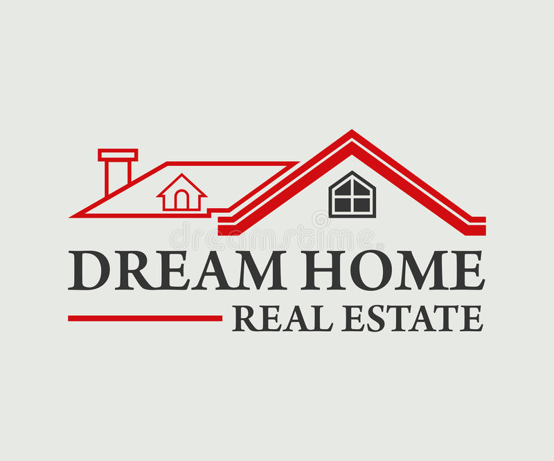 Ακίνητη περιουσία, διανυσματικό σχέδιο λογότυπων κτηρίου, οικοδόμησης και αρχιτεκτονικής απεικόνιση αποθεμάτων