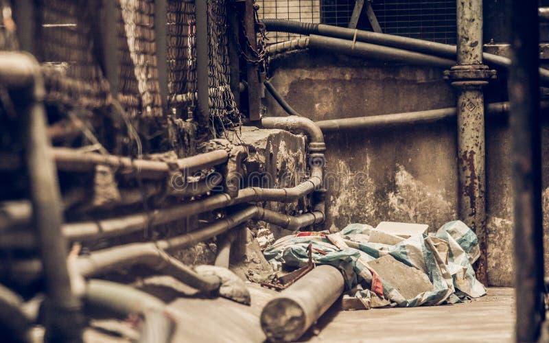 Ακατάστατη δευτερεύουσα αλέα στην πόλη Χονγκ Κονγκ στοκ φωτογραφίες με δικαίωμα ελεύθερης χρήσης
