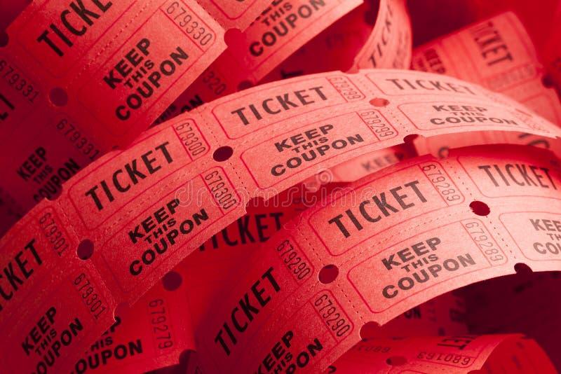 Ακατάστατος ρόλος εισιτηρίων στοκ φωτογραφίες με δικαίωμα ελεύθερης χρήσης
