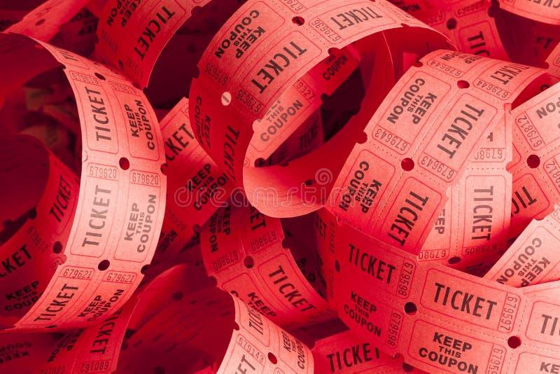 Ακατάστατος σωρός εισιτηρίων στοκ φωτογραφία