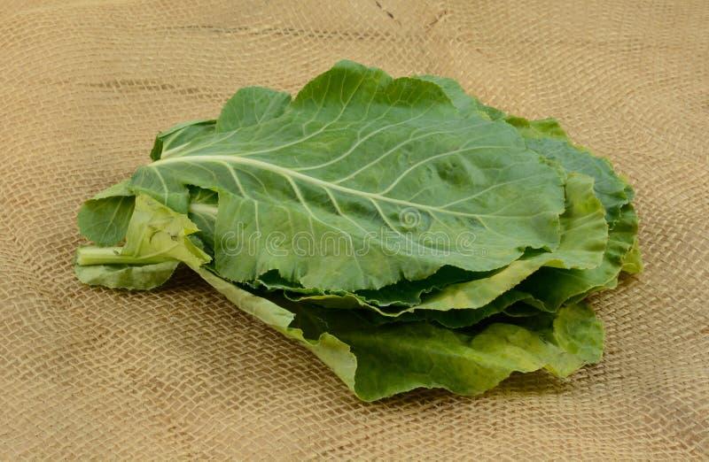 Ακατέργαστα πράσινα λάχανων burlap στοκ εικόνα με δικαίωμα ελεύθερης χρήσης