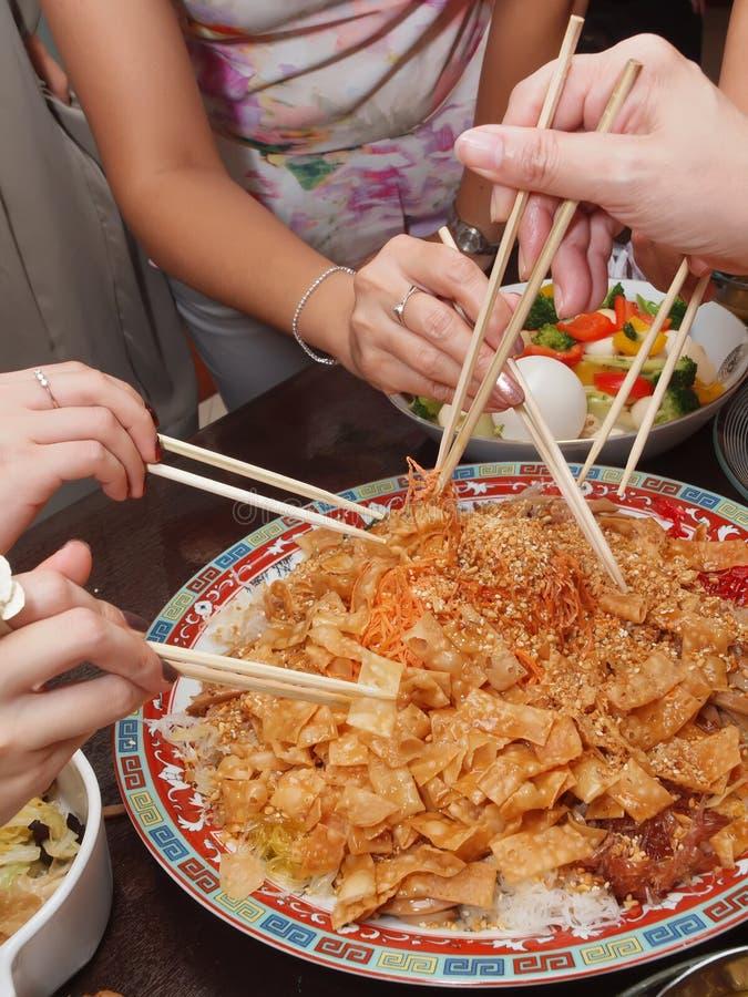 Ακατέργαστα ψάρια - Yusheng/Lo Hei στοκ φωτογραφία
