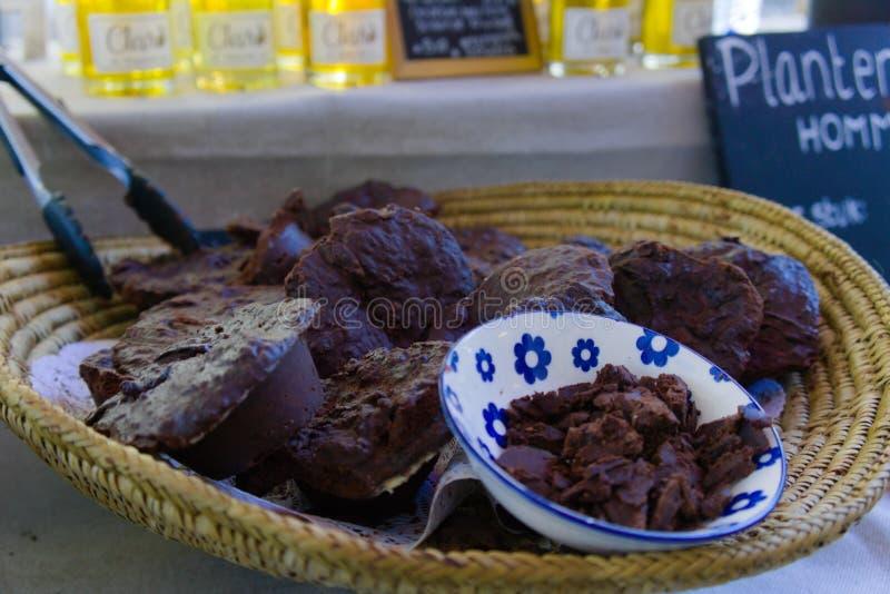 Ακατέργαστη σπιτική σοκολάτα στοκ εικόνες με δικαίωμα ελεύθερης χρήσης
