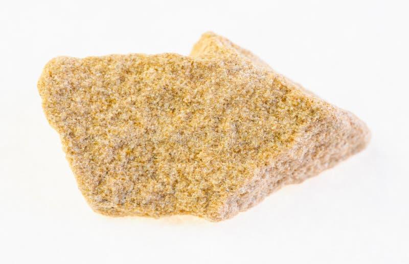 ακατέργαστος κίτρινος βράχος ψαμμίτη στο λευκό στοκ φωτογραφία με δικαίωμα ελεύθερης χρήσης