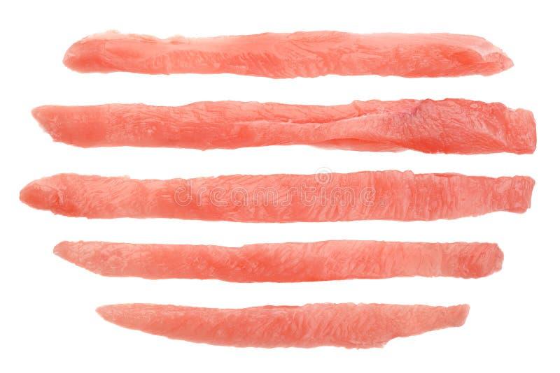 Ακατέργαστο ραβδί κρέατος στηθών κοτόπουλου στοκ εικόνες με δικαίωμα ελεύθερης χρήσης