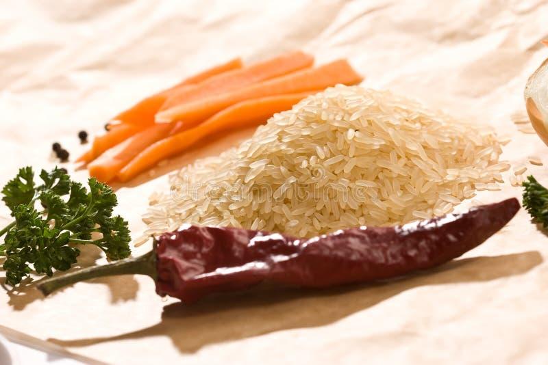 ακατέργαστο ρύζι στοκ φωτογραφίες