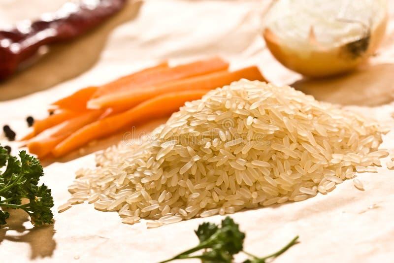 ακατέργαστο ρύζι στοκ φωτογραφία