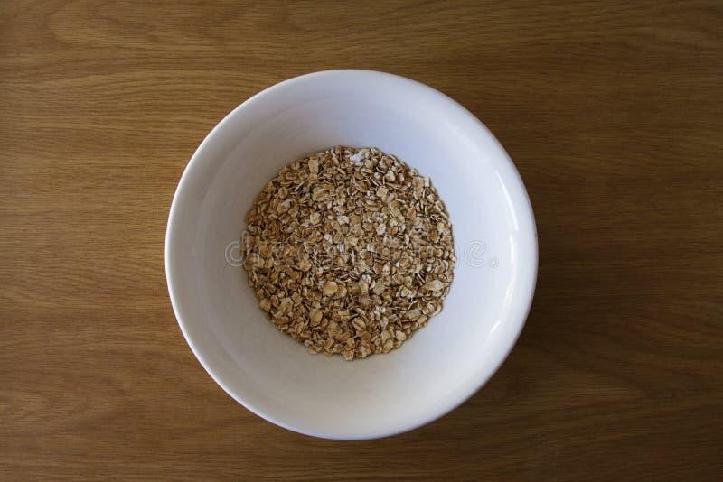 Ακατέργαστο Oatmeal στοκ φωτογραφία