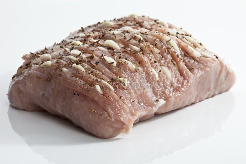 ακατέργαστο roast χοιρινού κρέατος στοκ φωτογραφίες με δικαίωμα ελεύθερης χρήσης