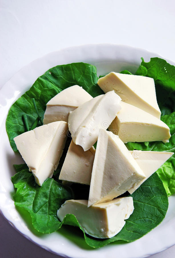 ακατέργαστο tofu στοκ εικόνες