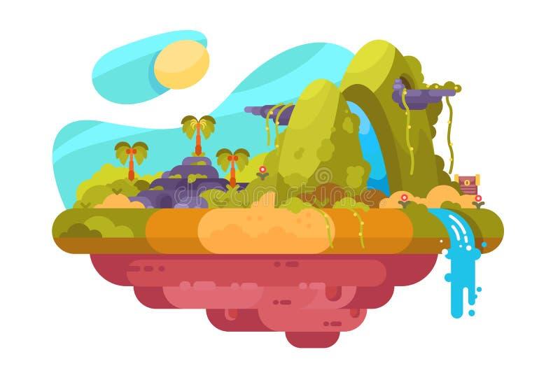 Ακατοίκητο γραφικό νησί απεικόνιση αποθεμάτων