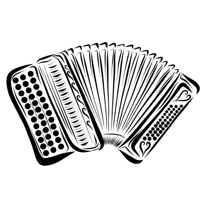 Ακκορντέον κουμπιών με ένα σχέδιο απεικόνιση αποθεμάτων