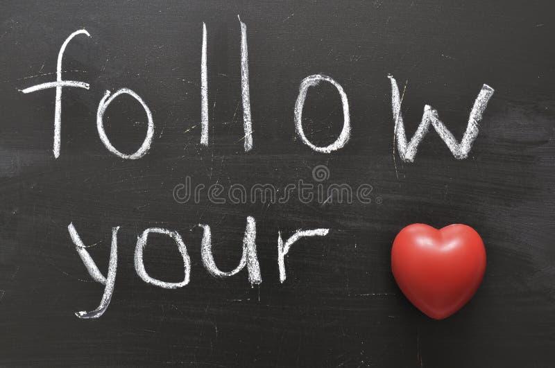 ακολουθήστε την καρδιά σας στοκ φωτογραφία με δικαίωμα ελεύθερης χρήσης