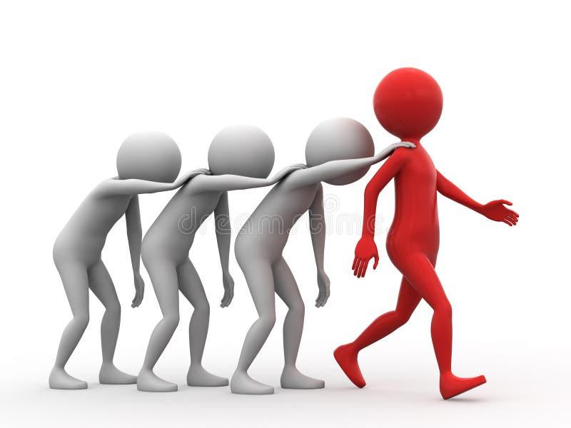 ακολουθήστε τον ηγέτη διανυσματική απεικόνιση