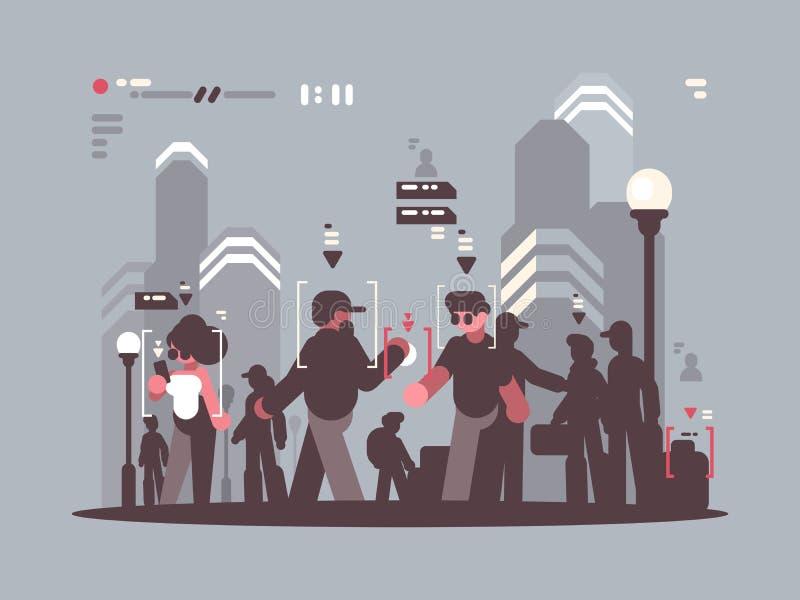 Ακολουθώντας άνθρωποι συστημάτων στο πλήθος ελεύθερη απεικόνιση δικαιώματος