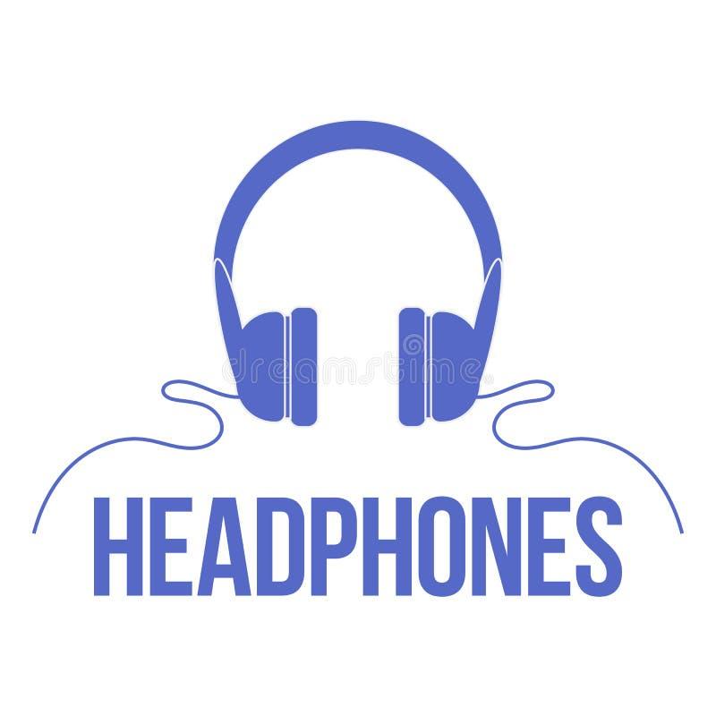 Ακουστικά εικονιδίων μπλε διάνυσμα ουρανού ουράνιων τόξων εικόνας σύννεφων στοκ φωτογραφία με δικαίωμα ελεύθερης χρήσης