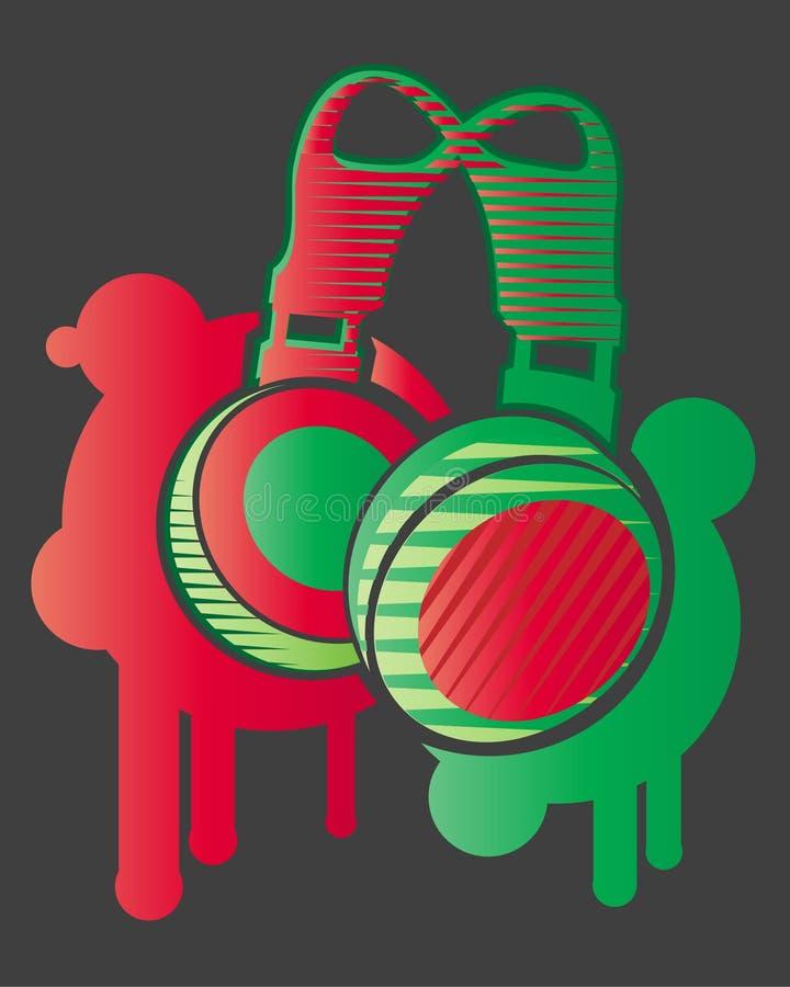 ακουστικά του DJ ελεύθερη απεικόνιση δικαιώματος
