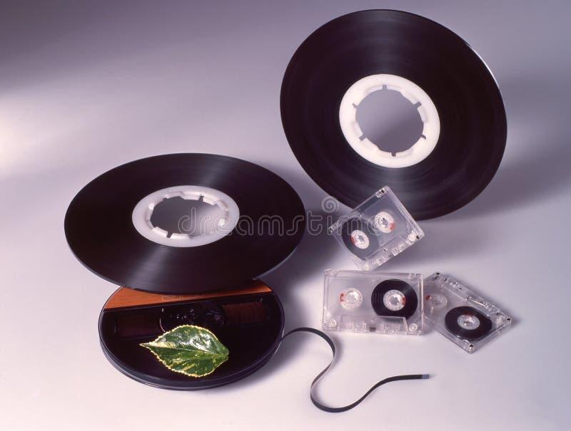 Ακουστικές ταινία-κασέτες στοκ φωτογραφία με δικαίωμα ελεύθερης χρήσης
