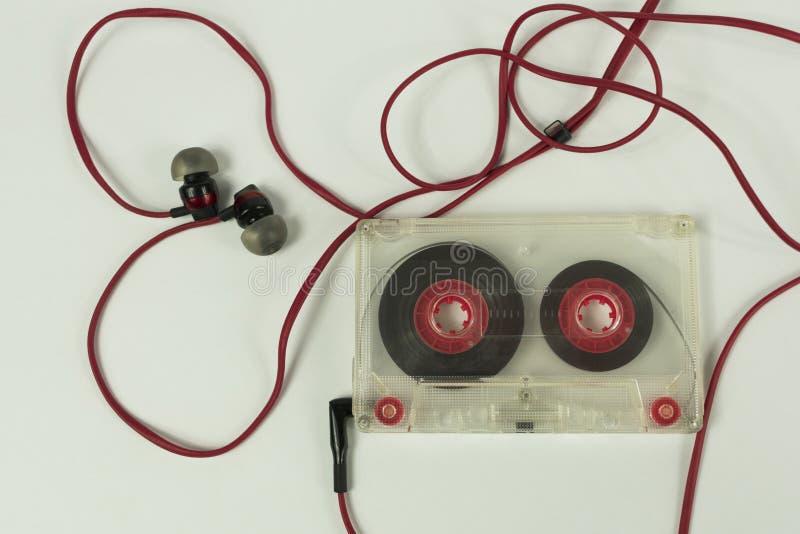 Ακουστική καρδιά ακουστικών κασετών στοκ εικόνες