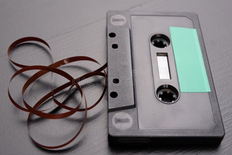 Ακουστική κασέτα με το διάστημα για την είσοδο κειμένων Κασέτα χωρίς περιγραφή στοκ φωτογραφίες με δικαίωμα ελεύθερης χρήσης