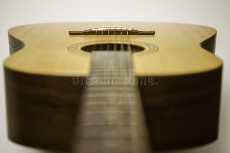 Ακουστική κιθάρα Fretboard και σώμα στοκ εικόνες