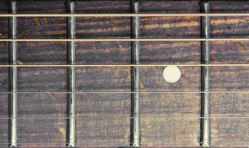 ακουστική κιθάρα fretboard στοκ φωτογραφίες