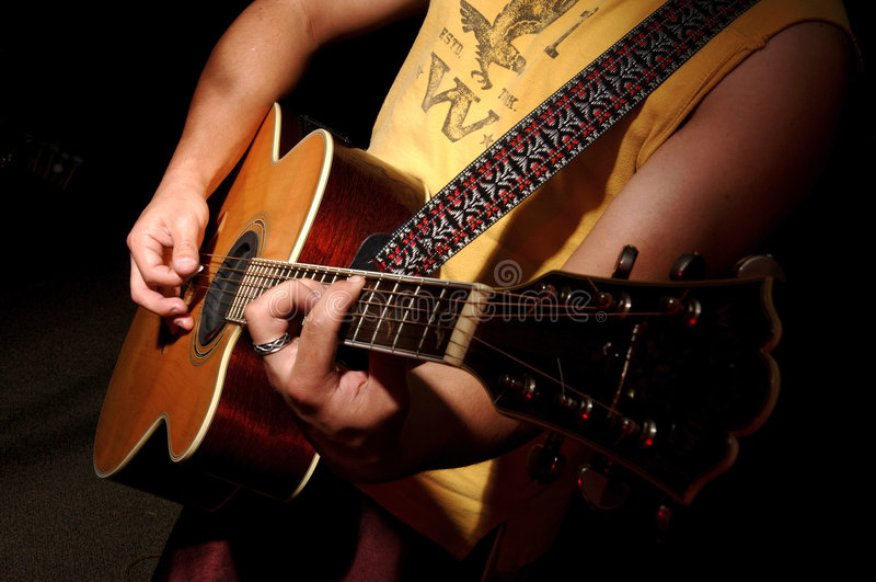 ακουστική μουσική κιθάρ& στοκ εικόνα