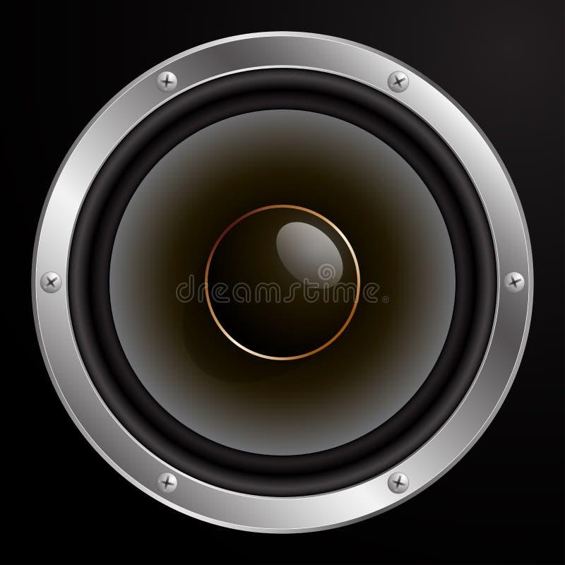 Ακουστικός ομιλητής, διανυσματική απεικόνιση απεικόνιση αποθεμάτων